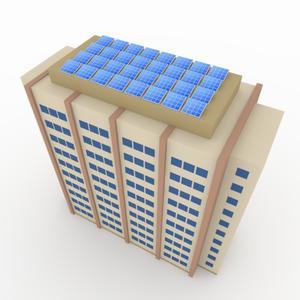 アパートに太陽光発電システム